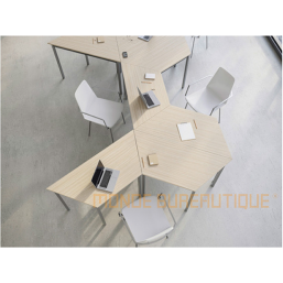 TABLE TRAPÉZE MODULABLE -...